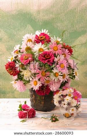 summer bouquet in the vase