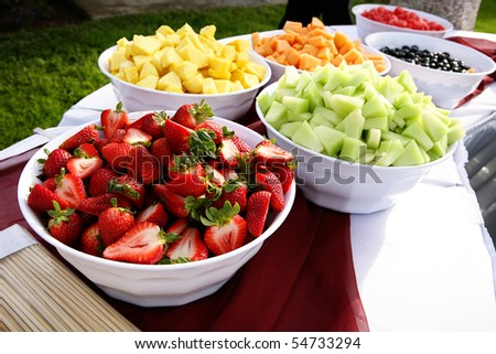 summer bowls of fruit