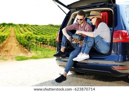 Summer car trip  #623870714