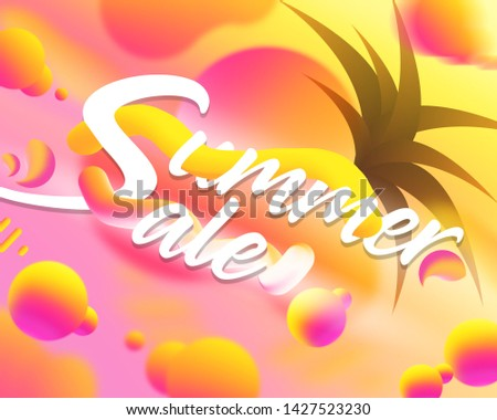 Summer Clearance Sale marketing design background. Abstract art gradient. Fluid creative concept composition for advertising. Discount promotion poster. Shopping final reductions