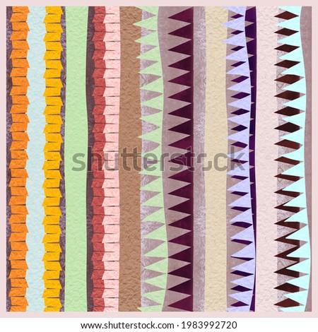 Summer colorful geometrik print for scarp Foto d'archivio ©