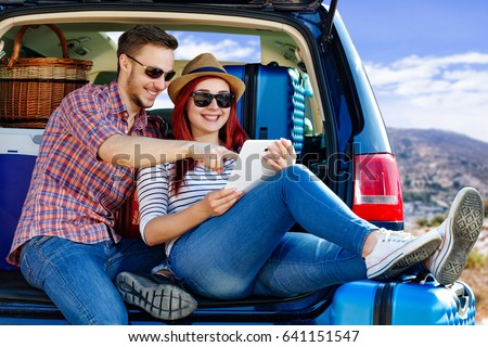Summer day and car trip  #641151547