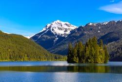Summer day at Pack wood lake in Washington  state