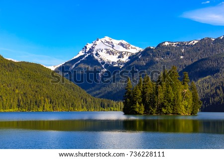 summer day at pack wood lake in ...