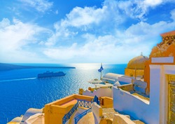 Summer Day in Santorini, Greece