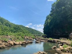 Summer day on the Caney Fork River
