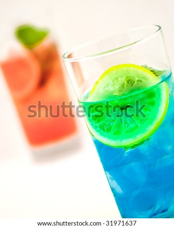Summer drinks in orange and blue color stock photo for Orange and blue cocktails