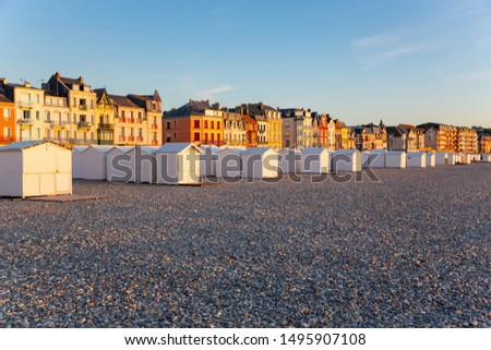 Summer evening in Mers-les-Bains, Departement Somme in Picardie, France Photo stock ©