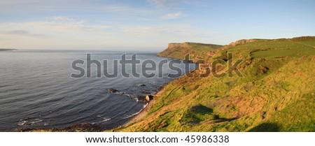 summer evening on ballycastle coast