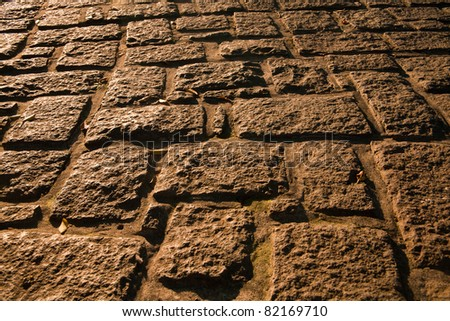Summer evening view of the floor pattern - stock photo