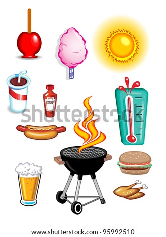 Summer Food Icons