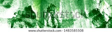 Summer Fruit Leaves. Ocean Watercolor Illustration. Sea White Background. Tropical Organic Grunge. Green Marine Flora. Artistic Flora Texture.