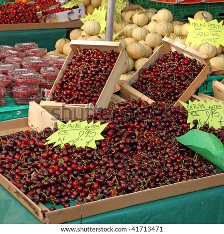 Summer fruits on a French market stall