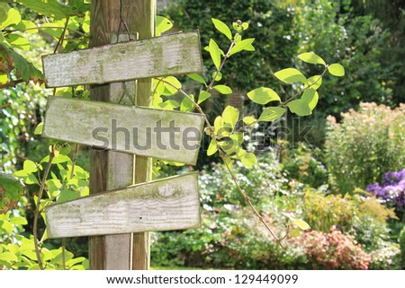 Summer garden wooden sign, add your own text.