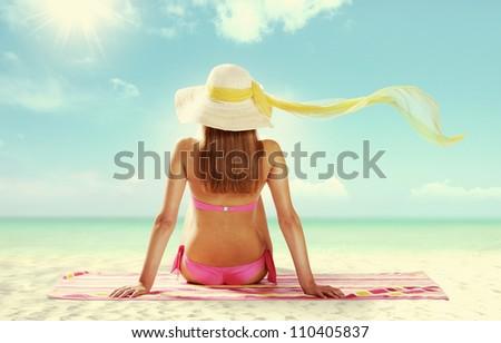 Summer girl on the beach