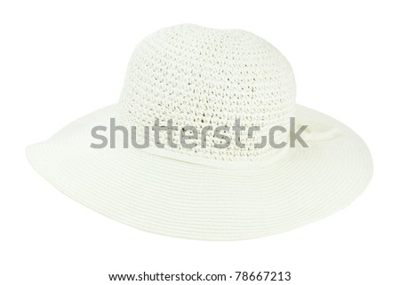 Summer hat isolated on a white background with clipping path included.