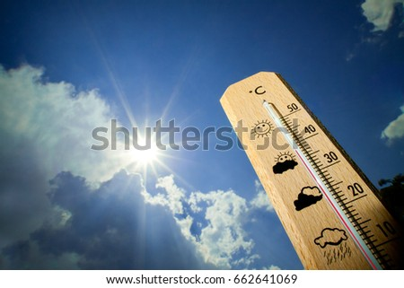 Shutterstock Summer heat on the thermometer