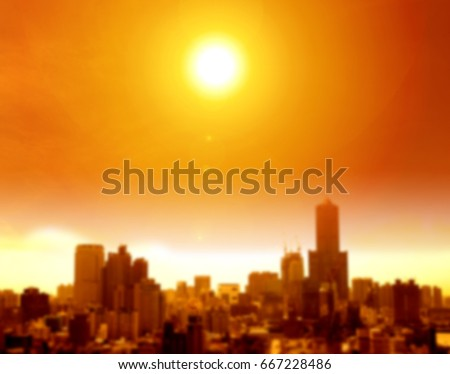 Shutterstock summer heat wave in the city  and blur background