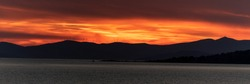 Summer hellish sunset on the Adriatic coast