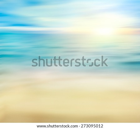 Summer holiday background. Summer ocean with sand. Beach with sea waves. #273095012