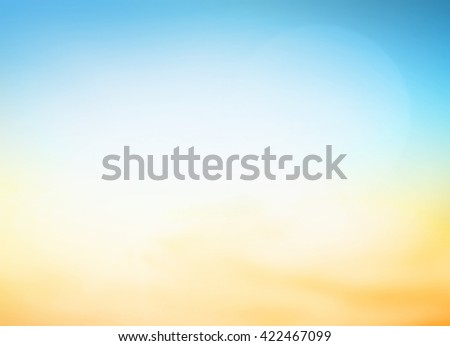 Summer holiday concept: Abstract blurred blue, yellow and orange background #422467099