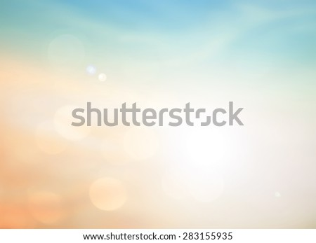 Summer holiday concept: Abstract blurry morning sunrise sky background. #283155935