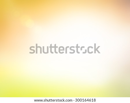Summer holiday concept: Sun light and abstract blur yellow nature background. #300164618