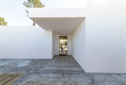 Summer house door entrance