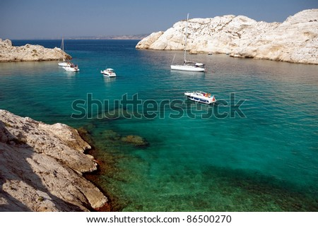 Summer in France. Island off Marseilles.