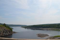Summer in New Brunswick: Saint John River seen from atop Mactaquac Dam
