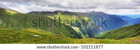 Summer in Romanian high Mountains Panorama