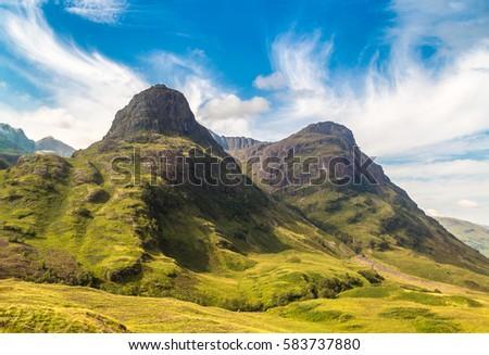 Summer in Scotland highlands in a beautiful summer day, United Kingdom - Shutterstock ID 583737880