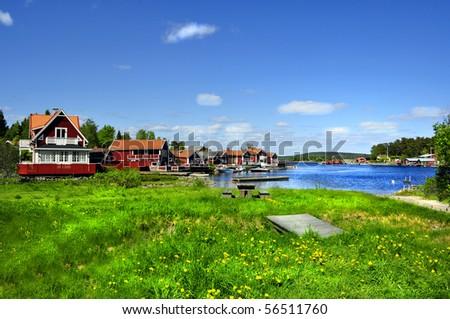 Summer in Sweden - stock photo