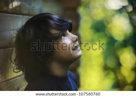 Summer joy for cute kid
