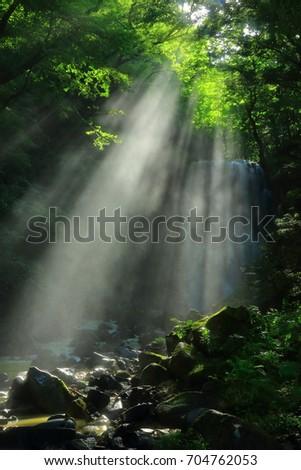 Summer kameda fudo waterfall #704762053