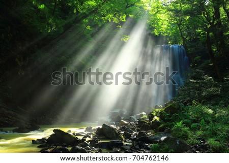 Summer kameda fudo waterfall #704762146