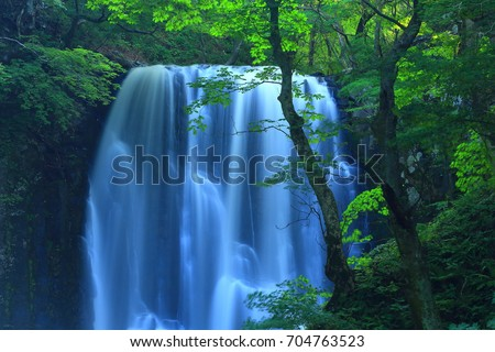 Summer kameda fudo waterfall #704763523