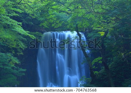 Summer kameda fudo waterfall #704763568