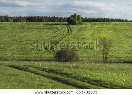 Summer landscape in Central Russia. #653701693