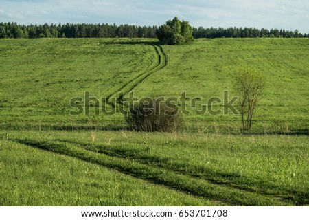 Summer landscape in Central Russia. #653701708