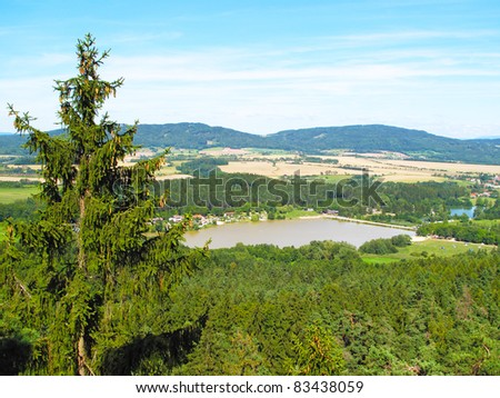 Summer landscape in Cesky raj, Czech republic, European Union. Beautiful place for hikers.
