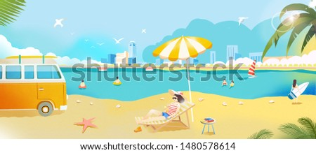 Summer leisure vacation beauty vacation
