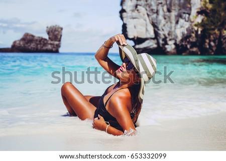 summer lifestyle portrait of...