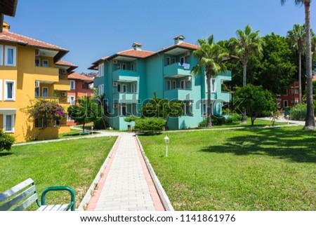 Summer Luxury Resort Hotel Buildings