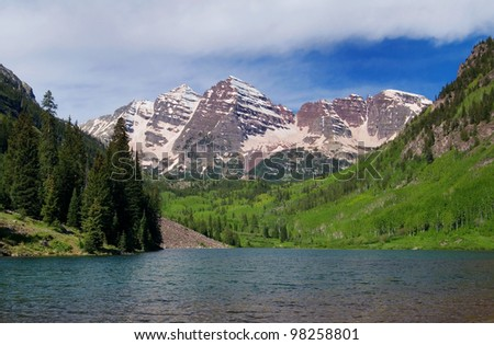 Summer Maroon Bells