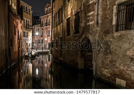 Summer midnight in the center of Venice