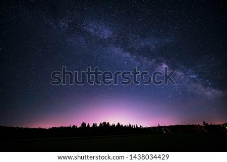 Summer Milky Way  in the night sky.