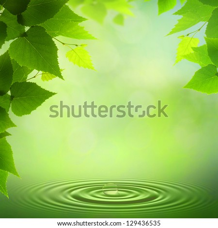 Summer morning. Abstract environmental backgrounds