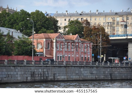 Summer, Moscow, Russia, Frunze Embankment, architecture August 18, 2012 #455157565