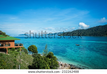 Summer on the beach, Luxury Place, Beautiful Island Beach, Blue Sea, Hotel Resort, Holiday, Vacation and Tourism concept life is beautiful, Travel, Relax, Thailand